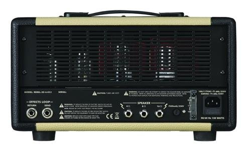 Egnater REBEL -20 MARK II 20-Watt One-Channel Tube Head with Tube Mix, 2 x 6V6 and 2 x EL84 Power Tubes, 3 x 12AX7 Preamp Tubes