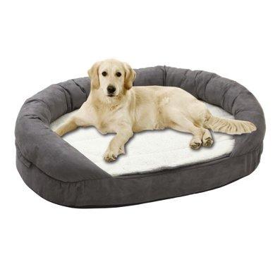 Ortho Bed ovalado Tumbona Cama High Tech cama para perros Perros techo Perros Cojín perro cesta gris S - L: Amazon.es: Productos para mascotas