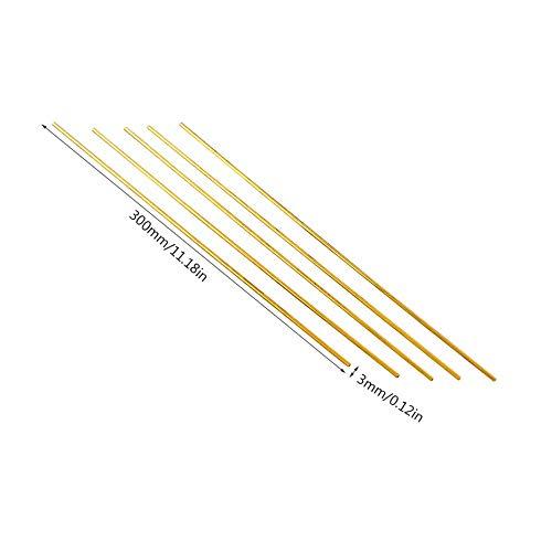Tubes en laiton 2mm-6mm Pipeline Engineering Model Making Tools Connecteurs de tuyaux en laiton Outil de coupe ronde pour tuyaux en laiton 300 3mm Jaune 2