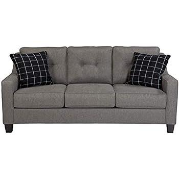 Ashley Brindon Queen Sleeper Sofa Bed in Charcoal
