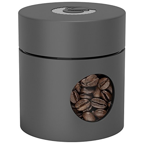 Coffee Gator Mini Travel Canister - Borosilicate Glass & Stainless Steel Container for Beans Grounds & Dry Food - 4oz - - Container Gator