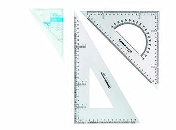 6x Set de dibujo Campus University Técnico 30cm | Escuadra ...