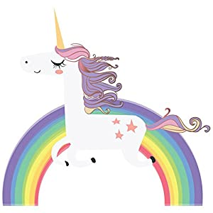 Havenport Rainbow Unicorn Wall Sticker for Girls Bedroom Wall Decal Art Nursery Home Decor(XL)
