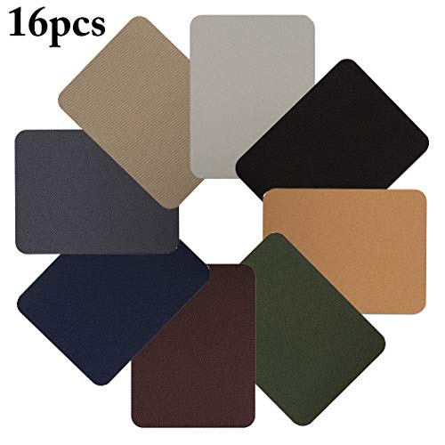 Price comparison product image Zoylink 16PCS Denim Patches Sewing Patches Assorted Color Iron On Decorative Patches