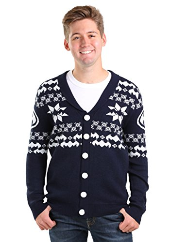 Miss Krueger Halloween Costume (Mens Batman Christmas Cardigan X-Small)