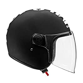 Royal Enfield Royal Enfield Open Face with Visor MLG Helmet Matt Black & White (M)57 CM(RRGHEL000043)