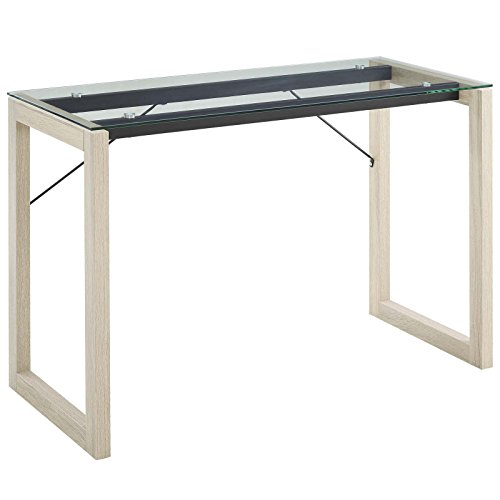 Modway Medley Contemporary Modern Glass-Top Writing Desk by Modway