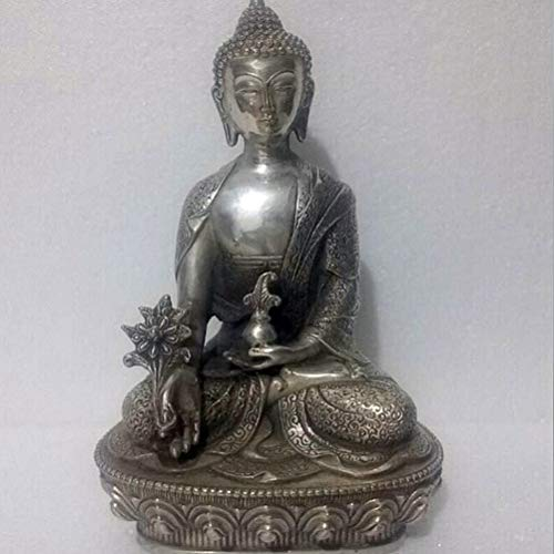 (Tibet Silver Buddha Statue - Christmas Ornaments +Antique Sculpture, Tibetan Silver Buddha Statues, All Kinds of Free Style Delivery On Stools and Buddha - by GTIN - 1 Pcs)