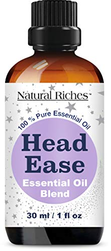Migraine & Headache Pain Relief Essential Oil blend - 30ml Therapeutic Grade for Head Ease Aromatherapy Contains Lavender, Peppermint, Rosemary, Wintergreen, Marjoram and Frankincense essential oils.