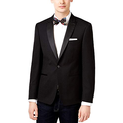 Calvin Klein Men's Slim-Fit Black Jacquard Dinner Jacket 40S