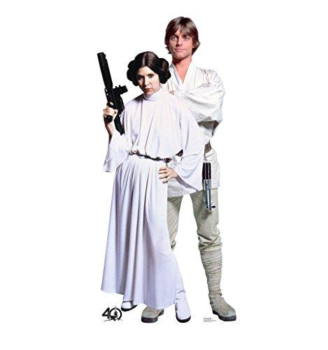 Luke & Leia - Star Wars 40th Anniversary - Advanced Graphics Life Size Cardboard Standup