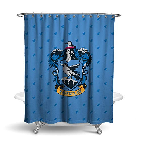 Robe Factory Harry Potter Ravenclaw Shower Curtain House Bathroom Decor with Hook Rings -