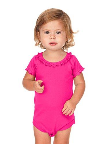 (Kavio! Infants Sunflower Short Sleeve Onesie Hot Pink 12M)