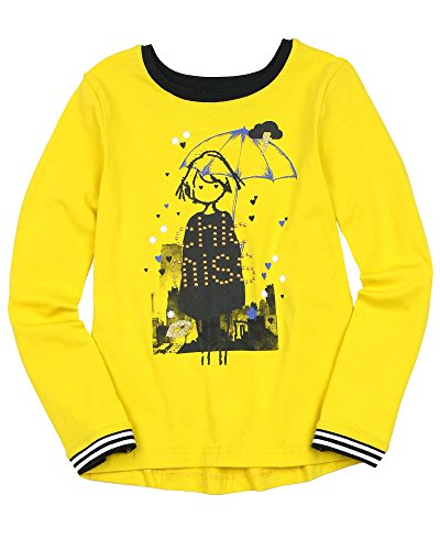 Deux par Deux Girls' Yellow T-shirt with Print Paris Je T'aime, Sizes 7-12 (7)