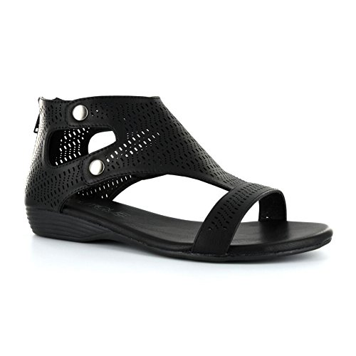 Perforated Medium Ladies 10 Womens Sandals Corkys Footwear Black qgUtx