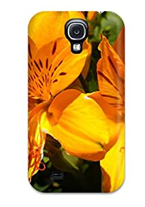 TkREeSs12188wQUgZ Faddish Orange Flowers Case Cover For Galaxy S4
