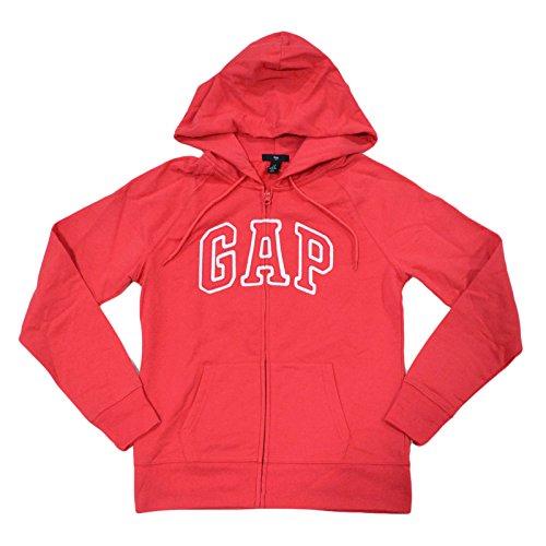 Arch Logo Zip (GAP Womens Fleece Arch Logo Full Zip Hoodie (Pink, X-Large))