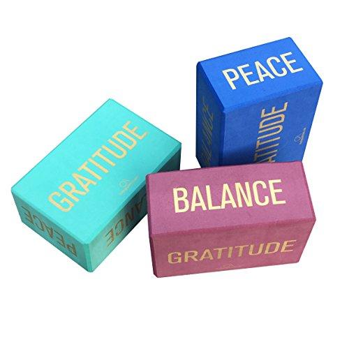 Affirmations Yoga Blocks (Set of 2), Eco-Friendly Recycled High-Density Foam - 4
