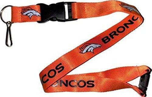 NFL Denver Broncos Women's Logo Keychain Ticket ID Holder Clip Lanyard, One Size, Orange