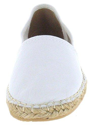 Dama macarena espadrilles cuir pour femme blanc (vierge)
