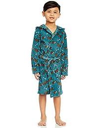 Boys Hooded Fleece Sleep Robe (Size 2 Toddler-14 Years) Variety of Prints