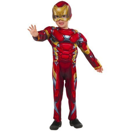 [Iron Man Muscle Chest Boys Toddler Halloween Costume 2T] (Halloween Costumes Iron Man)