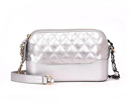 Mujer Shoppers y bolsos de hombro Bolsos bandolera Carteras de mano y clutches Plateado