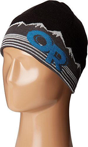 Outdoor Research Advocate Beanie, Black/Tahoe, 1size