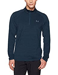 Under Armour Men's Playoff 14 Zip Shirt, Academy (409)rhino Gray, Large