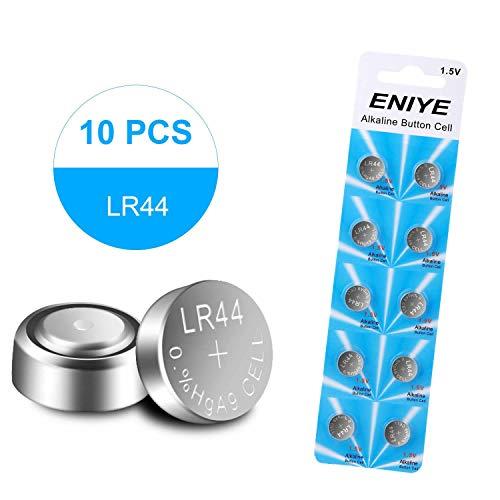 ENIYE LR44 AG13 357 303 SR44 Battery 1.5V Button Coin Cell Batteries (10 Count)
