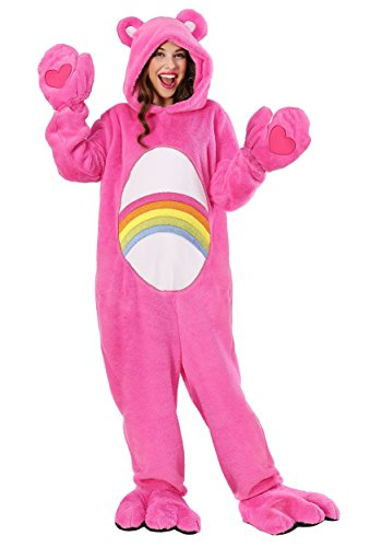 Adult Care Bears Costume Deluxe Cheer Bear Costume Medium Pink -