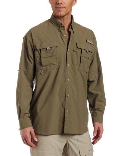 Columbia Men's Bahama II Long Sleeve Shirt, Sage, Medium