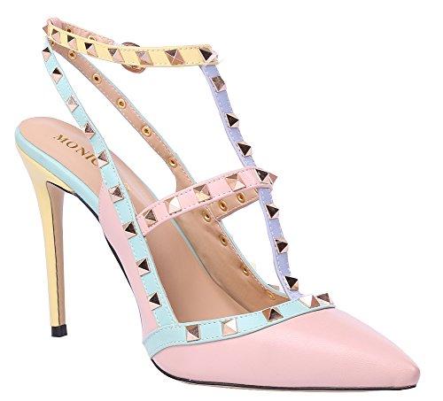 MONICOCO 2015 - Zapatos de vestir para mujer - A-Pink High
