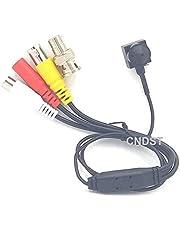 CNDST 1080P 2MP HD 2000TVL 4-in-1 TVI/CVI/AHD/960H CVBS CCTV Mini Spy Pinhole Beveiligingscamera, voor 1080P 4-in-1 TVI/AHD/CVI/CVBS/960H DVR, f3.6mm Lens, 90 graden, DC 12V 1A