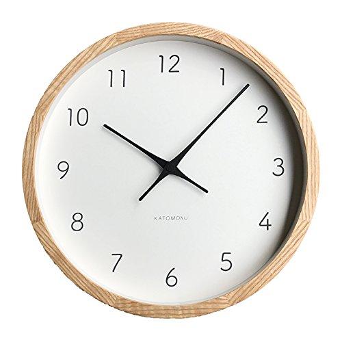 KATOMOKU muku round wall clock 7