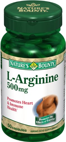 Nature Bounty L-Arginine 500mg, 50 capsules (Pack de 4)