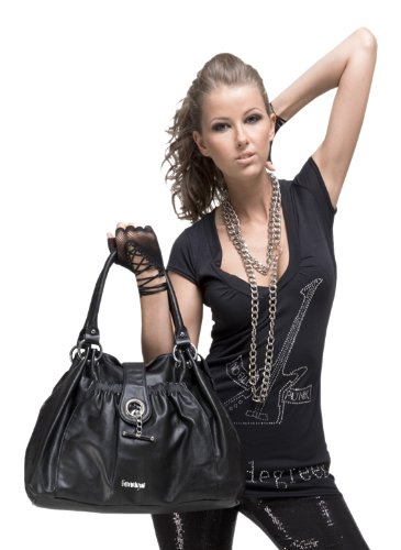 FORTY° Shopper Nonn KUNSTLEDER schwarz Damen
