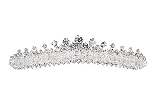 Handmade Bridal Rhinestone Crystal Prom Wedding Tiara Crown T1103