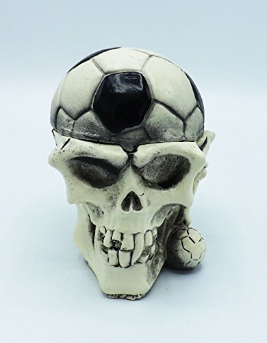 Skull Soccer Ashtray skeleton Cigarette Ash Tray Soccer Tray Ball Ashtray