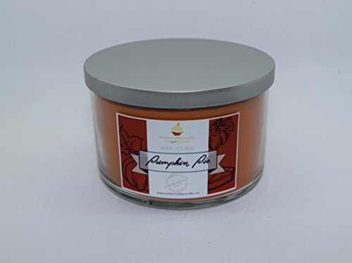 Strong Scented Pumpkin Pie 3 Wick Soy Candle 25oz By Madison Valley Soy Candle Company