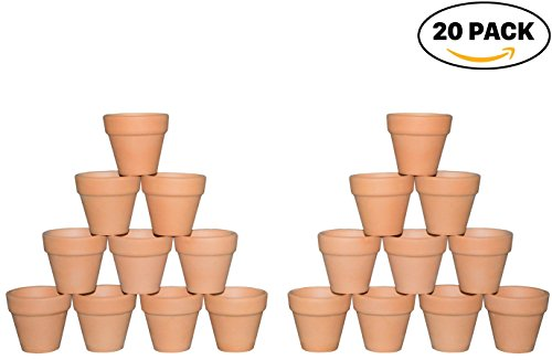 My Urban Crafts 2″ Mini Terracotta Clay Pots – Great For Succulent & Cactus Nursery Planter, DIY Craft Projects, Wedding and Party Favors (Set of 20) Review