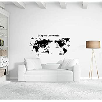 Amazon national geographic 92x64 classic world map mural world map wall decal educational decals world map wall sticker vinyl wall art removable sticker airplane decor large peel and stick art mural gumiabroncs Choice Image
