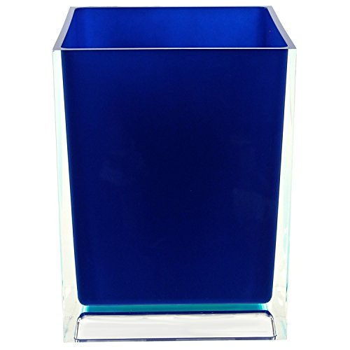 Gedy Rainbow Free Standing Waste Basket With No Cover, Blue