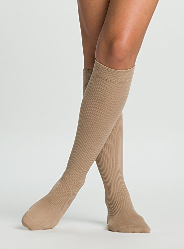 - SIGVARIS Women's Casual Cotton 146 Calf High Compression Socks 15-20mmHg