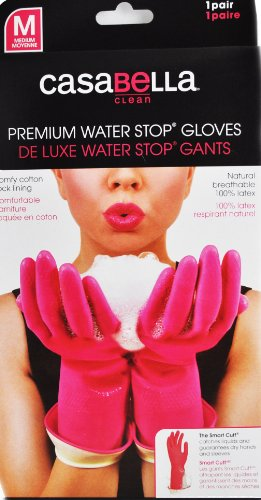 - Casabella Water Stop Premium Gloves Medium Pink