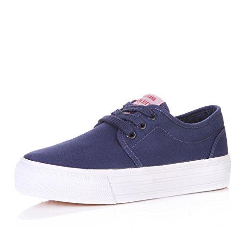 Zapatos de las muchachas de lona de verano/Zapatos de suela gruesos de pastel/Zapato de puro ocio D