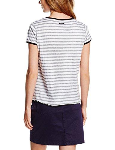THE HIP TEE Selma, Camiseta Para Mujer Black/White Stripes