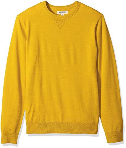 Goodthreads Men's Merino Wool Crewneck Sweater, Yellow, Medium