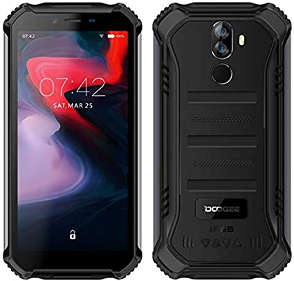 【2019】 DOOGEE S40 (3GB+32GB) 4G Android 9.0 Sólido Móvil Libre Robusto - 5.5'' HD (Gorilla Glass 4) IP68/IP69K Militar Resistente IP68 Impermeable Smartphone, 4650mAh batería,Dual SIM,GPS,NFC - Negro