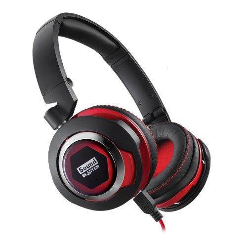 (CREATIVE LABS Sound Blaster EVO USB Headset / Stereo - USB, Mini-phone - Wired - Over-the-head - Binaural - Circumaural / 70GH026000002 /)
